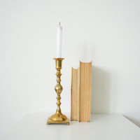 Brass candle holder Vintage by SCAVENGENIUS on Etsy