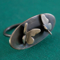 Beautiful Butterfly Ring in Sterling SilverReady to by kathryncole