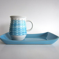 Bourne Denby Burlington Mug Plate Snack Set by pillowsophi on Etsy