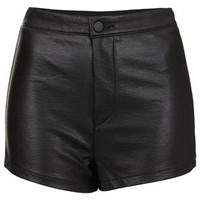 Leather Look High Waist Shorts - New In This Week  - New In