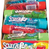 Hubba Bubba Squeeze Pop Assorted 4 oz Sweet Lollipops (Pack of 18)