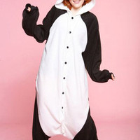 Cushzilla Panda Costume PJs: animal costume that's also one piece pajamas!
