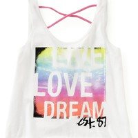 Cropped Live Love Dream Crossback Dorm Tank - Aeropostale