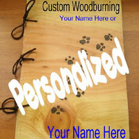 Woodburning Personalized Custom Names by BillsWoodenPleasures