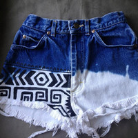 Juniors/Womans High Rise Tribal Shorts