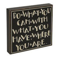 Do What You Can...Sign â?? French Seaside Cottage Decor ~ Boutique de la Mer