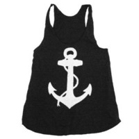 Amazon.com: Happy Family Nautical Anchor American Apparel Racerback Tank Top: Clothing