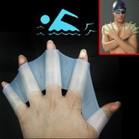 Silicone Swim Gloves ** available sizes: S, M, L **