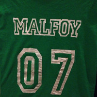 Malfoy Slytherin Quidditch Shirt