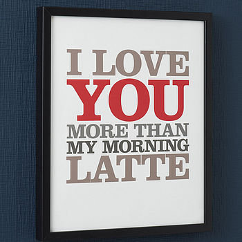 personalised 'i love you more thanâ?¦' print by rosie robins | notonthehighstreet.com