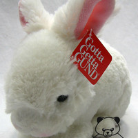 Lil Wispers Bunny Rabbit Gund Plush Toy Stuffed Animal Easter White Soft BNWT Sm