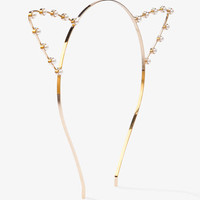 Beaded Cat Ears Headband | FOREVER 21 - 1051049000