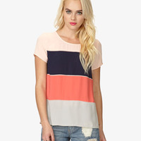 Colorblocked Georgette Top | FOREVER21 - 2023837641