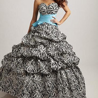 New Style Zebra Quinceanera Dresses Ball gown Prom Party Dreses Evening Custom