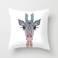 GiRAFFE Throw Pillow by Mnika  Strigel	