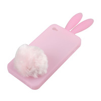 Wholesale BaiYuYi Lovely Rabbit Silicone Back Case Cover for iPhone 4  4S 2PCS - DinoDirect.com
