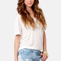 Element Eden Leah Lace Jean Shorts