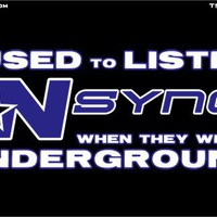 T-Shirt Hell :: Shirts :: I USED TO LISTEN TO NSYNC WHEN THEY WERE UNDERGROUND