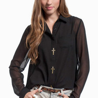 Holy Buttons Blouse $16