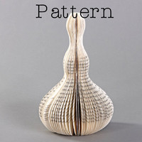 Last minute: DIY Pattern or template to make the book sculpture - Flacon I