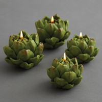 Artichoke Candles - Set of 4