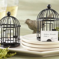 Birdcage Tealight Placecard Holder - Black