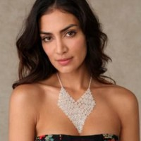 Flower Mesh Necklace at Free People Clothing Boutique