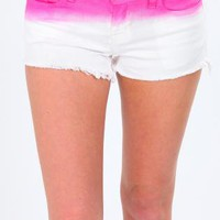 Dip Dye SHorts- Pink