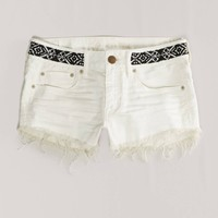 AE Beaded Denim Shortie | American Eagle Outfitters