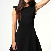 Caroline Ribbed Fabric Drop Waist Dress