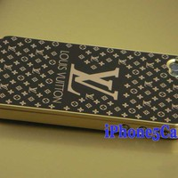 Louis Vuitton iPhone 4 4S Case - Golden Black|Designer iPhone 4 Cases