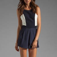 Finders Keepers I've Been Loving Playsuit in Indigo/White from REVOLVEclothing.com