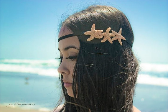 Triple Sugar Starfish Headband  by dreamsbythesea