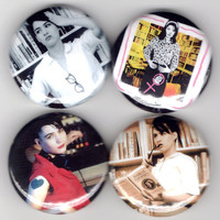 Julie Ruin - Set of 4 - Kathleen Hanna Riot Grrrl Feminist Buttons Pins Badges Pinback