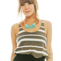 Grey Stripes Tank - Furor Moda - Tops - Dresses - Jackets - Vintage