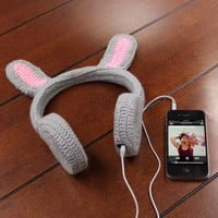 BunnyPHONES Crocheted Rabbit Ear Stereo Headphones with Screen Cloth for Google Nexus 7 , Samsung Galaxy Tab 2 , Asus Transformer Pad Infinity TF700T and Many More Tablets!