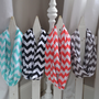 Chevron Infinity Jersey Knit Scarves Coral,Black,Aqua,and Grey,More Colors Coming Soon
