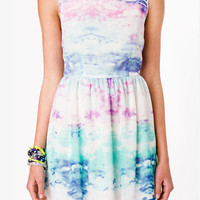Watercolor Sky Fit & Flare Dress | FOREVER 21 - 2034779316