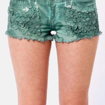 Black Sheep Grace Land Teal Shorts