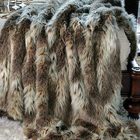 Russian Lynx Faux Fur Limited Edition Throw Blankets | Fabulous-Furs