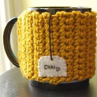 Chai Love Mug Cozy by KnitStorm on Etsy