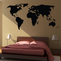 World Map Wall Decal Sticker World Country Atlas the whole world Vinyl Art