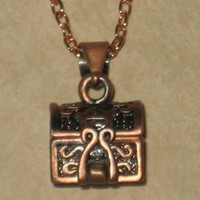 Copper Prayer Box or Keepsake Box Necklace