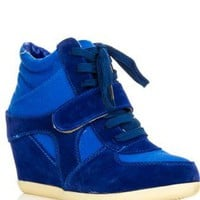 Blue Wedge Sneaker