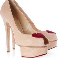 Charlotte Olympia|Delphine suede platforms|NET-A-PORTER.COM