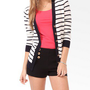 Tortoise Button Striped Cardigan | FOREVER 21 - 2000049828
