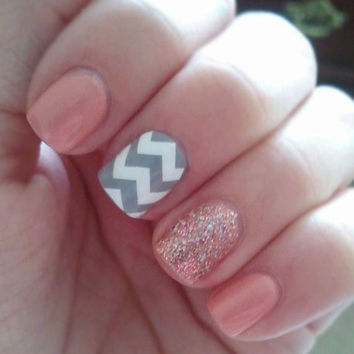 Large Pattern Chevron Nail Decals  YOU PICK by MakeitStickDesigns