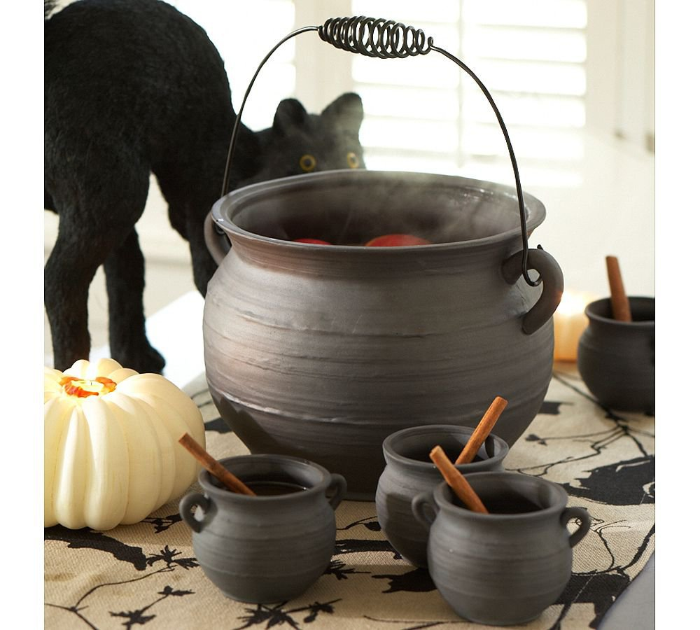 Cauldron Punch Bowl &amp; Cups | Pottery Barn