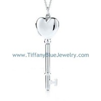Find The Last Cheap Tiffany Keys Heart Key Locket Silver Necklace In Tiffanybluejewelry.com