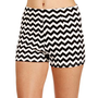Tan/Black Chevron High Waisted Shorts